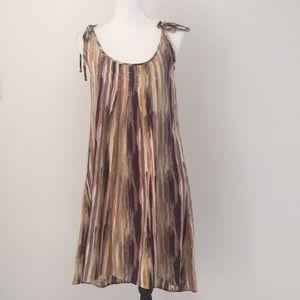 Ecote striped midi dress small